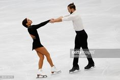 Ksenia Stolbova and Fedor Klimov of Russia perform during the Pairs Short event on the first day of the ISU GP Rostelecom Cup 2017 at the Megasport Arena in Moscow, Russia, on October 20, 2017.