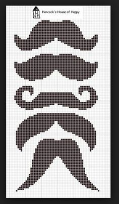 mustaches! if you look at the bottom 3 they look like a face like the bottom most one is the mouth the one on top is the eyes and the one top of that is a hat
