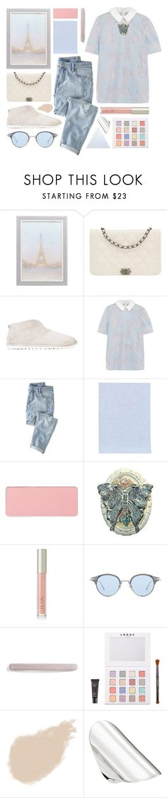 """""""muted pastels"""" by foundlostme ❤ liked on Polyvore featuring Chanel, Marsèll, Carven, Wrap, Fine & Candy, shu uemura, Ilia, Gentle Monster, L. Erickson and LORAC"""