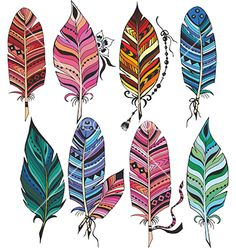 watercolor feathers clipart instant download hand painted clip art rh pinterest com feathers clipart black and white feather clip art free