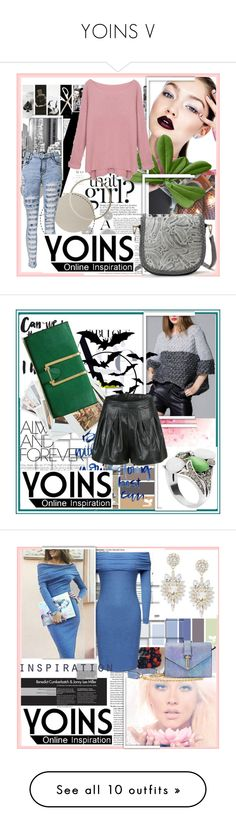 """""""YOINS V"""" by damira-dlxv ❤ liked on Polyvore featuring Komar, women's clothing, women, female, woman, misses, juniors, yoins, Chronicle Books and John-Richard"""