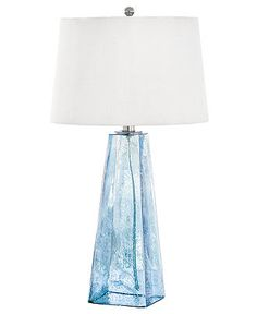 Regina Andrew Table Lamp, Baha Blue Glass Lamp - Table Lamps - for the home - Macy's
