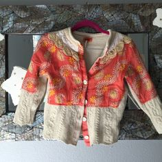 Free people cropped Sweater So unique!  free people cropped sweater, Great condition. Free People Sweaters Cardigans
