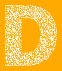 Letter D Fitness Sports and Exercise pattern vector background vector art illustration
