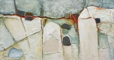 '130204'- Paul Barter  Mixed media on board, 65 x 122 cm  Collection: University of Surrey  This painting was acquired following an exhibition entitled 'Geological Formations and Fractures' held at the University of Surrey's Lewis Elton Gallery in 2005. The works in this exhibition were inspired by the artist's travels in South America and Australia.