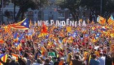 'flashmob' per la independència a la plaça Catalunya de Barcelona