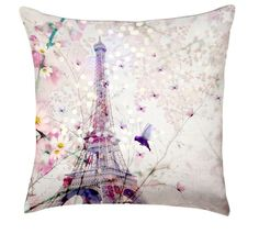 Spring in Paris Linen Cushion by Chacha by Iris at Zed Teen