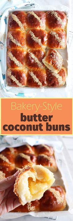 Bakery-Style BUTTER COCONUT BUNS