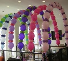 Link-o-loon arch tunnel    Balloon arch, balloon tunnel, pastel colors, pastel party, Celebration Creations