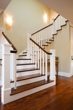 Craftsman New Home traditional staircase