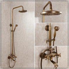 Free shipping Antique brass bathroom faucet / shower set /8\