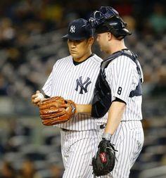 Masahiro Tanaka, Brian McCann, NYY // Sept 2015 v BOS