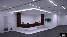 Diseño recepción oficina moderna