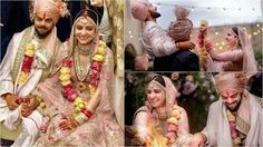A wedding was just like a fairy tale of a perfect love story of Anushka Sharma and Indian Cricket Team Captain Virat Kohli.Their marriage news just trending Anushka Sharma Engagement, Engagement Saree, Anushka Sharma And Virat, Virat Kohli And Anushka, Anushka Marriage, Wedding Background, Team Bride, Beautiful Moments, Maid Of Honor