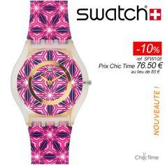 Une montre originale avec bracelet en tissu pour moins de 90€ ?  La Swatch Vetrata ref. SFW108 - de la collection  For The Love of Pattern - est à 76,50€ au lieu de 85€ sur Chic Time ! Soit une réduction de -10% et la livraison est offerte : http://www.chic-time.com/montres-femme/42272-montre-femme-swatch-sfw108-7610522541689.html