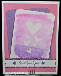Watercolor PML Cards ~ Fundamentals ~ Just for you ~ CatScrapbooking.com