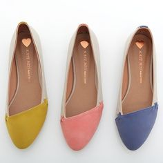 Two-Tone Pointed Ballet Flats
