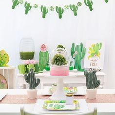 How do you party? With Cactus Party Garland? This string of celebration cacti is a festive addition to any fiesta or collection of party supplies . Birthday Party Themes, First Birthday Parties, 14th Birthday, Kid Parties, Birthday Ideas, Fiesta Baby Shower, Llama Birthday, Party Garland, Quinceanera Party