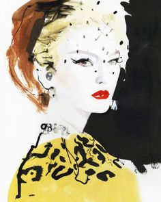 Born in Kent in UK artist David Downton worked as a freelance illustrator for 12 years before he found his true calling as a world-renowned fash. Art And Illustration, Fashion Illustration Vintage, Fashion Illustrations, Design Illustrations, David Downton, Arte Fashion, Fashion Fashion, Trendy Fashion, High Fashion