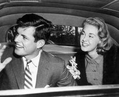 Ted and Joan Kennedy after their 1958 wedding
