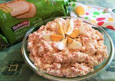 Sonkakrém - tojással, sajttal, minden jóval -, ahogyan mi szeretjük | Jucus receptje - Cookpad receptek Meat Recipes, Recipies, Healthy Recipes, Weekday Meals, Oatmeal, Sandwiches, Treats, Cooking, Breakfast