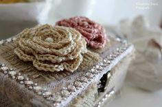 Cofanetto shabby crochet