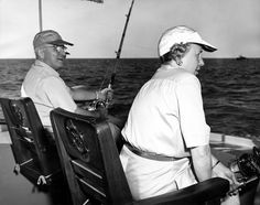 President and Mrs. Truman fishing near Key West, Florida, December 2, 1949.