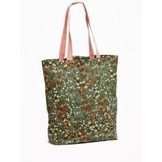 Printed Canvas Tote for Women ($8.99) ❤ liked on Polyvore featuring bags, handbags, tote bags, canvas handbags, green canvas tote, canvas purse, canvas totes and canvas tote handbags