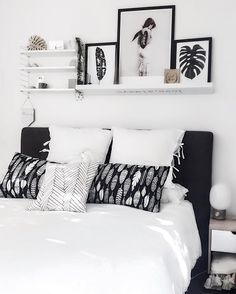 30 Amazing Black and White bedroom design ideas for 2020 – Home Decor On A Budget Monochrome Bedroom, White Bedroom Design, Gold Bedroom, Home Decor Bedroom, White Bedroom Decor, Bedroom Ideas, Black White And Grey Bedroom, Bedroom Black, Black Bedding