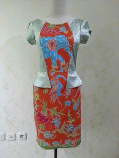 Cendana dress from batik doby and satin jacquard. Made by Dongengan (Facebook: https://m.facebook.com/dongengan)