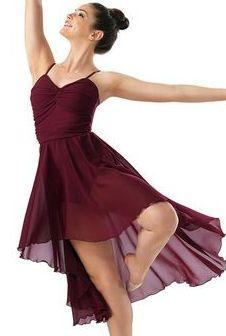 a beautiful but simple contemporary dance costume