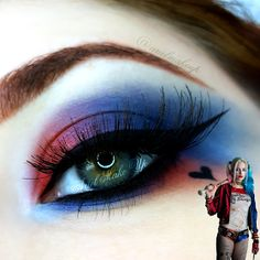 Ariel Make Up ~ Make Up & Beauty with a Princess Touch: ♕ Halloween 2016 ♕ Harley Quinn ~ Suicide Squad ♕ Harley Quinn Halloween Costume, Harley Quinn Cosplay, Joker And Harley Quinn, Harely Quinn Costume, Cool Halloween Makeup, Halloween Looks, Halloween Nails, Halloween 2016, Harly Quinn Makeup
