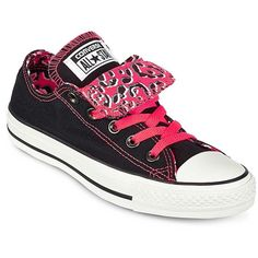 Converse Chuck Taylor Womens Double-Tongue Sneakers ($28) ❤ liked on Polyvore featuring shoes, sneakers, converse, all star, laced up shoes, plimsoll shoes, lace up sneakers, converse footwear and lacing sneakers