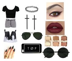 """Untitled #189"" by urawesomeness on Polyvore featuring BB Dakota, Ray-Ban and Dr. Martens"