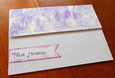 Christmas cards purple