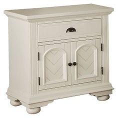 Aiden Chestnut Cottage 1 Drawer Nightstand With Cabinet Door - Elements International