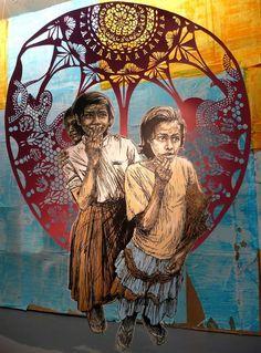 Swoon, street artists, global urban art, street art of the world, free walls, graffiti art.