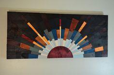 Sunset on Jupiter - wooden wall art $350