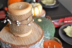 DIY Candle Upgrade for fall decor from Haute|31