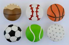 Sports Knobs Dresser Drawer Knobs by FrogsAndFairytales on Etsy, $4.00