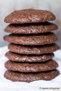 Dark Chocolate Quinoa Cookies - Wow! These sound different! If you do not already know, quinoa is full of protein, which helps you feel full longer. Can't wait to try them!