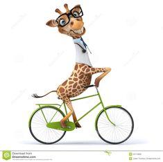 Illustration of savannah - 54714859 Giraffe Drawing, Giraffe Art, Cartoon Giraffe, Funny Giraffe, Giraffe Pictures, Cute Pictures, Giraffe Illustration, Funny Animals, Cute Animals