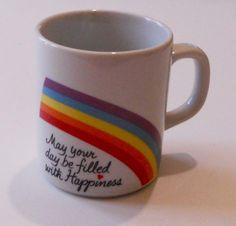 1980's Rainbow Mug by GiddyGirlVintage on Etsy, $9.00