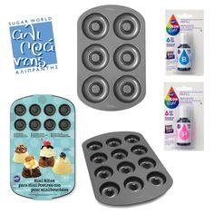 Μια έξυπνη πρόταση, ιδανική για πρωινό! Με τα αντικολλητικά μας σκεύη μπορείτε να ψήσετε εύκολα το donut που ταιριάζει στις γεύσεις σας! Με τις οδηγίες και τα χρώματα της #Wilton δημιουργήστε μοναδικούς χρωματικούς συνδυασμούς!  Bρείτε τα απαραίτητα σκεύη και χρώματα στο e shop μας www.sugarworld.gr/eshop Κωδικός:023.30.343 Κωδικός:023.30.341 Κωδικός:023.30.340 Κωδικός:009.02.509 Κωδικός:009.02.507 Mini, Color, Products, Dessert, Colour, Gadget, Colors