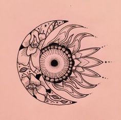 Moon and sun, a careful balance ✨ Tattoo Trendy Tattoos, Cute Tattoos, Flower Tattoos, New Tattoos, Tattoos For Guys, Tatoos, Arm Tattoo, Sleeve Tattoos, Tattoo Moon