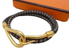 Black, Gray Leather Gold HD Double Wrap Bracelet. Get the lowest price on Black, Gray Leather Gold HD Double Wrap Bracelet and other fabulous designer clothing and accessories! Shop Tradesy now