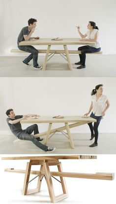 Seesaw Table. OMG! I want one of these!!!!