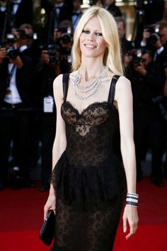Skinny Claudia Schiffer at Cannes