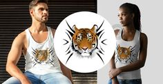Neues T-Shirt – Design ★ TIGER ★ 2-A ab 14,49€.  Neues T-Shirt – Design für Damen, Herren und Kinder.  Egal ob Tanktop oder T-Shirt, jedes Teil nur 14,95€! Weiterlesen: http://creative-media-impressions.de/2016/07/25/%e2%99%9a-tiger-%e2%99%9a-2-a/   #tiger #tigers #cats #tiere #animals #love #katze #design #tshirts #shirt