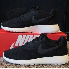 ISO Not Selling. Mens Nike Roshes Looking for a pair of mens Nike Roshe Ones.  In black with dark gray sail and white bottoms. Size 6.5 mens. Nike Shoes Athletic Shoes